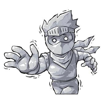 Ninja boy garganta petrificada.