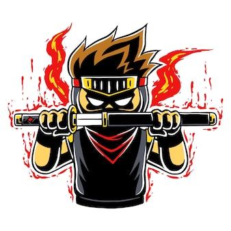 Ninja boy modo furioso.