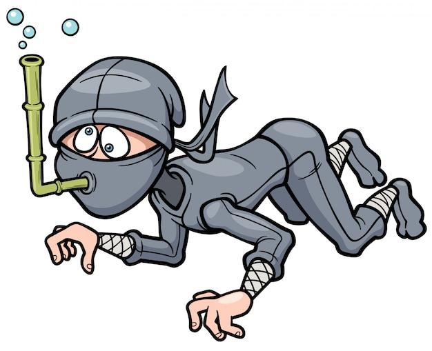 Ninja dos desenhos animados