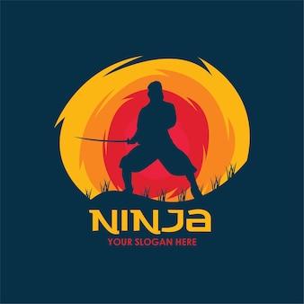 Ninja escuro plano