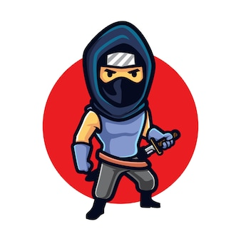 Ninja furtivo dos desenhos animados