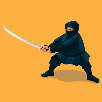 Ninja gordo e espada