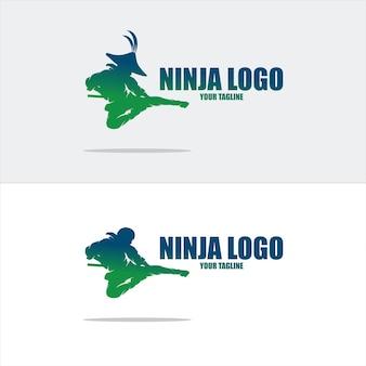Ninja logo fique à vontade para adicionar o seu próprio texto ao logo
