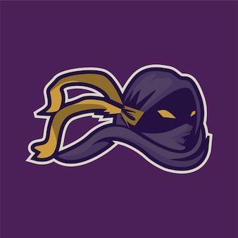 Ninja mascote jogos esport logotipo