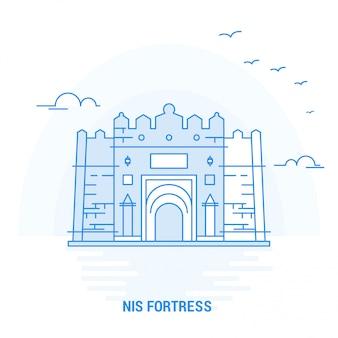 Nis fortress blue landmark