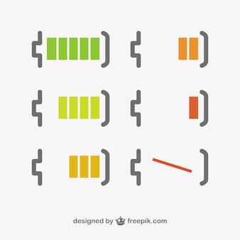 Nível de bateria design minimalista