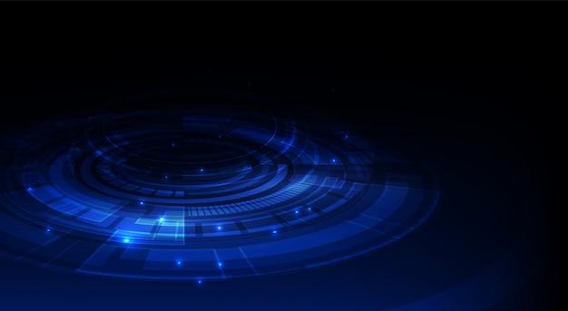 Nnovation tech sci fi conceito fundo dinâmico perspectiva projeto