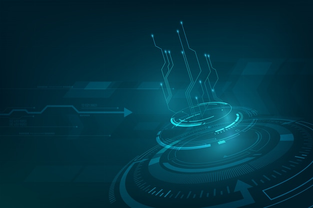 Nnovation tech sci fi conceito fundo projeto perspectivas dinâmico
