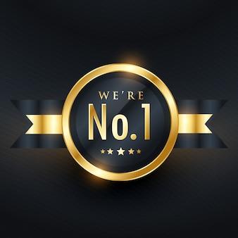 No. 1 design de etiqueta de ouro de negócios de liderança