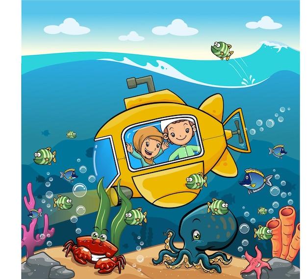 No fundo do mar está a minha criação de robbs