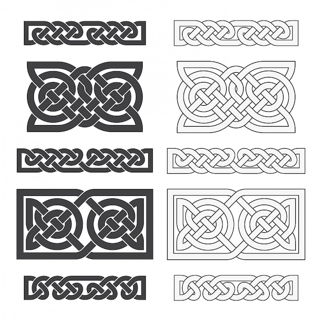 Nó horizontal celta de vetor. ornamento étnico