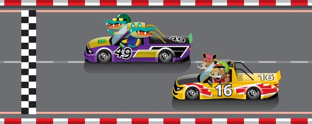 No jogo, a competição continua, o jogador usou o carro de alta velocidade para vencer no jogo de corrida