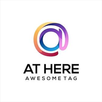No logotipo gradiente ilustração colorida