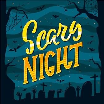Noite assustadora - conceito de letras