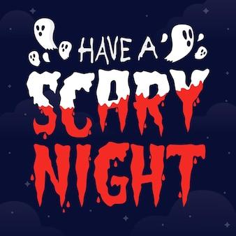 Noite assustadora - tema de letras