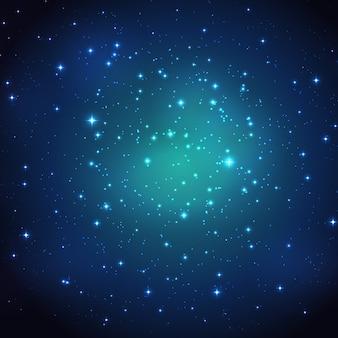 Noite brilhando fundo do céu estrelado. ilustração