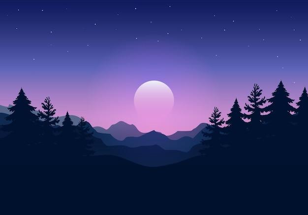 Noite da paisagem.