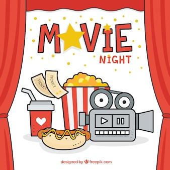 Noite de cinema feliz