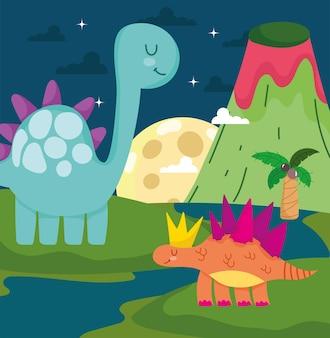 Noite de dinossauros fofos