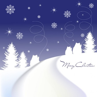 Noite do azul do natal