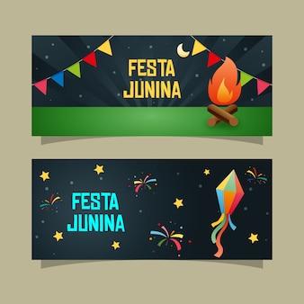 Noite festa junina banner