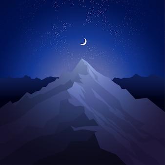 Noite nas montanhas