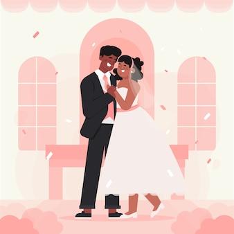 Noiva e noivo se casar