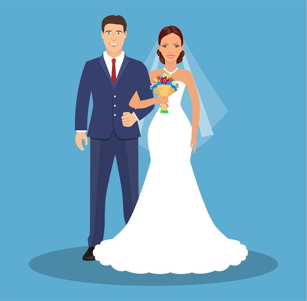 Noiva e noivo.