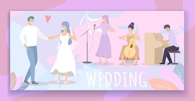 Noiva, em, vestido branco, e, noivo, dane, em, restaurante