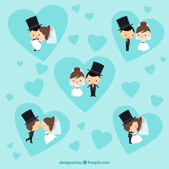 Noivas e noivos adoráveis