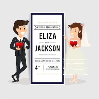Noivo e noiva bem-vindo ao casamento