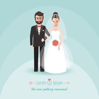 Noivo e noiva no dia do casamento.