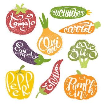 Nomes de frutas na coleção de quadros em forma de fruta