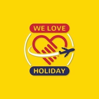Nós amamos holiday badge