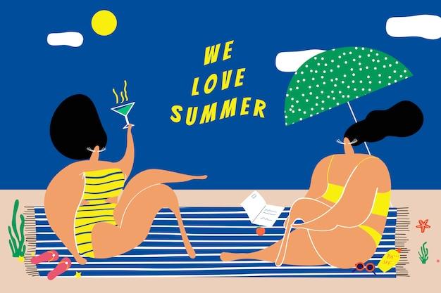 Nós amamos o verão