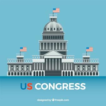 Nos congresso edifício com design plano