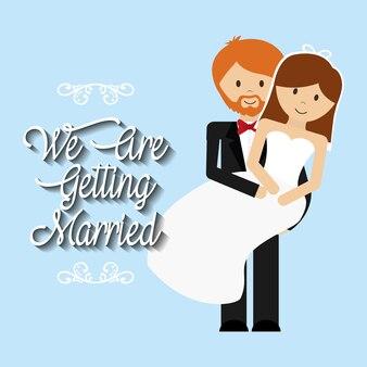 Nós estamos cumprimentando o homem casado carregando mulher linda