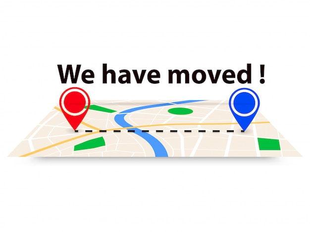 Nós mudamos, mudamos de endereço