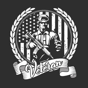 Nós soldado veterano