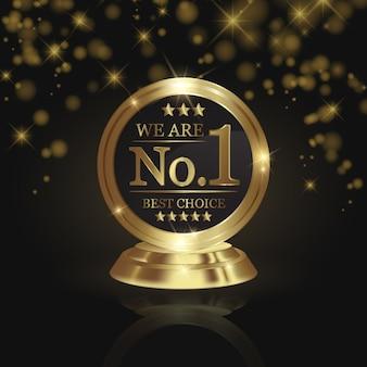 Nós somos o prêmio número 1 do troféu de ouro na estrela brilhante