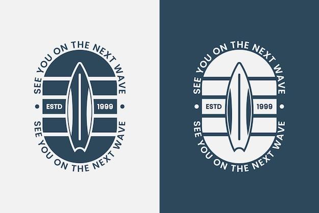 Nos vemos na próxima wavevintage tipografia verão surfando camisetas design ilustração