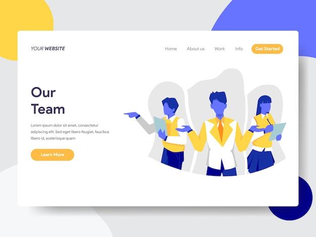 Nossa equipe para a página da web