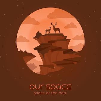 Nosso espaço do hart com animais