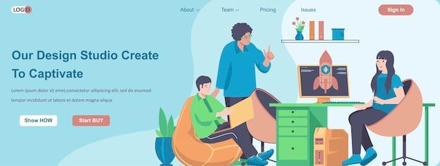 Nosso estúdio de design cria para cativar o conceito de banner da web
