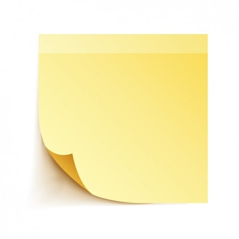 Nota adesiva amarela