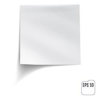 Nota auto-adesiva branca