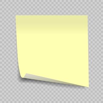 Nota auto-adesiva isolada em transparente