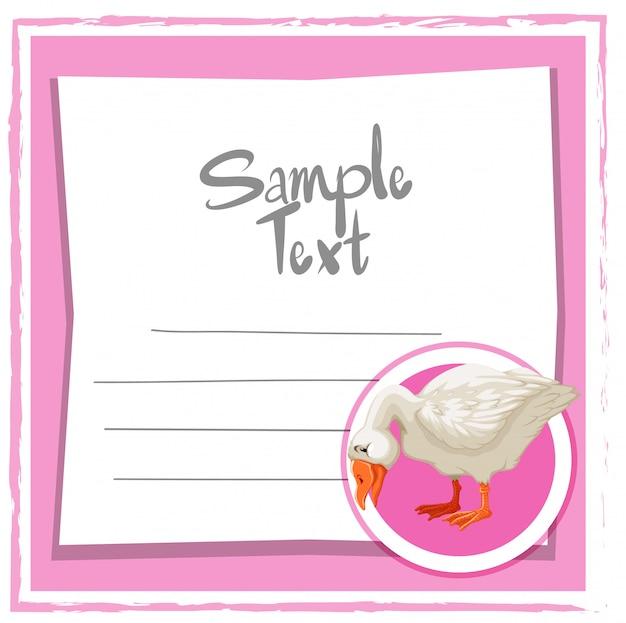 Nota de memorando com pato