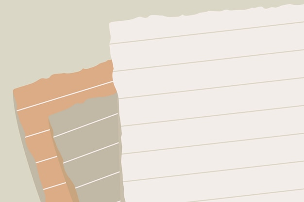 Nota de papel rasgada