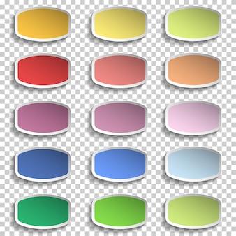 Nota papéis vetor de várias cores